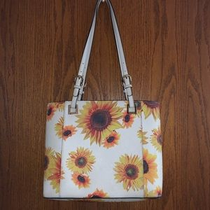 Calvin Klein White Sunflower Purse